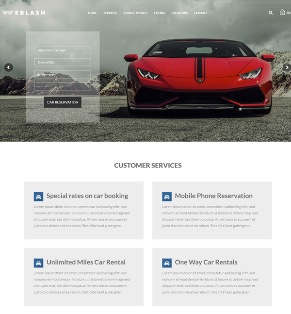 Car Rental Theme